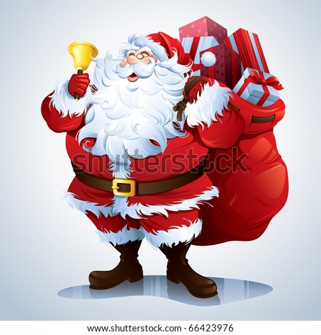 santa claus carrying sack full