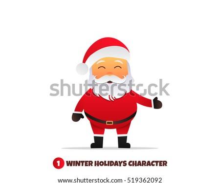 santa claus character merry