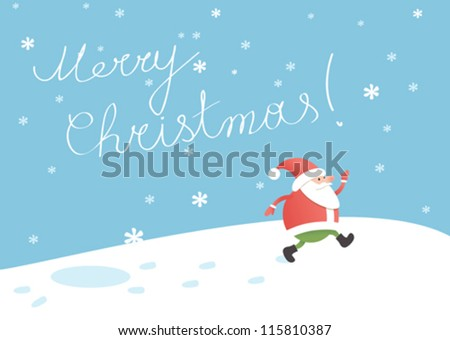 Santa Claus christmas greeting