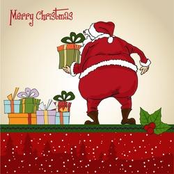 Santa Claus, Christmas greeting card
