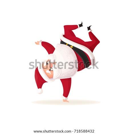 santa claus dancing christmas