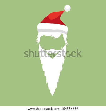Santa Claus Fashion Silhouette Hipster Style Vector