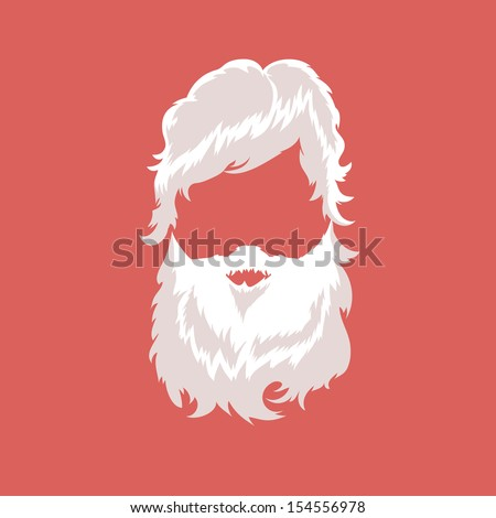 Santa Claus fashion silhouette hipster style vector illustration