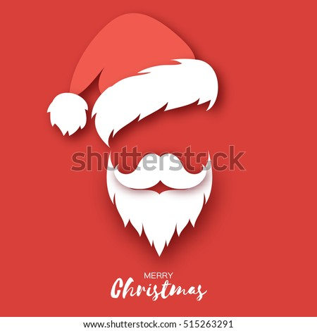 santa claus hat and beard