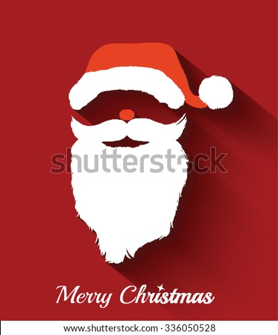 Santa claus hat and beard template ristmas retro santa card in santa claus hat and beard template ristmas retro santa card in vector maxwellsz
