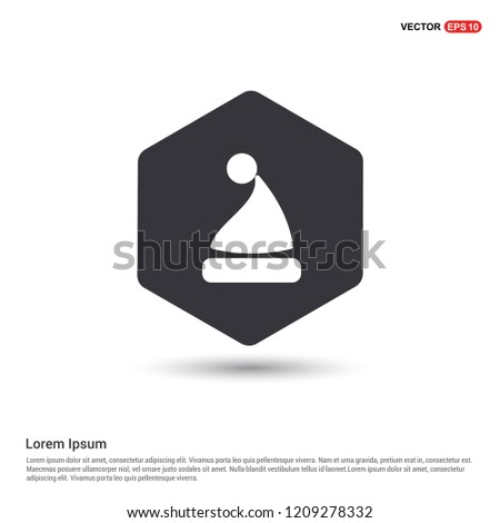 Santa Claus hat Icon Hexa White Background icon template - Free vector icon