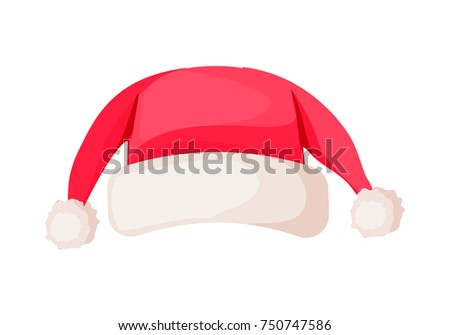 santa claus hat with two ends