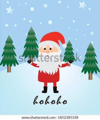 Santa Claus. Ho ho ho. Merry Christmas card. Tarjeta Navideña. Navidad Foto stock ©
