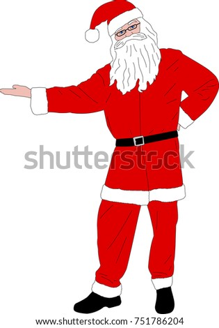 Santa Claus illustration - vector