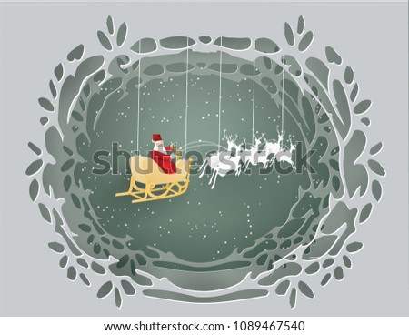 santa claus in gray wood tunnel