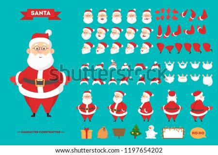 santa claus in red clothes