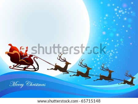 santa claus is coming to town. stock vector : Santa Claus is coming to town