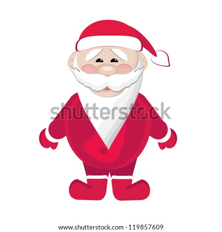 Santa Claus isolated on white background