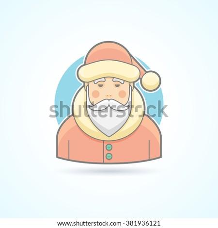 santa claus  jack frost icon