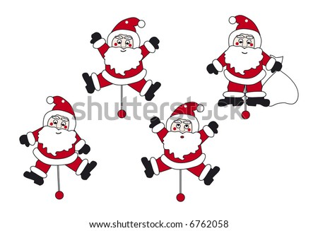 Jumping Jacks Cartoon Santa Claus Jumping Jack