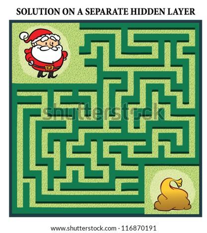 Santa Claus' Maze Game Help