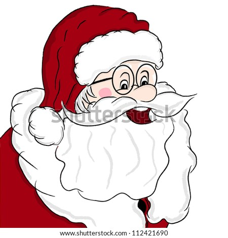 Santa Claus portrait on white background