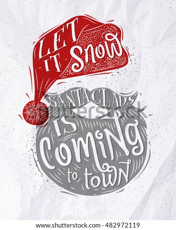 santa claus poster lettering