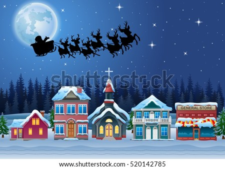 santa claus riding his reindeer