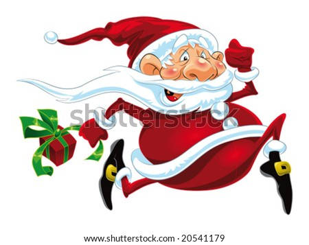 funny santa claus cartoon