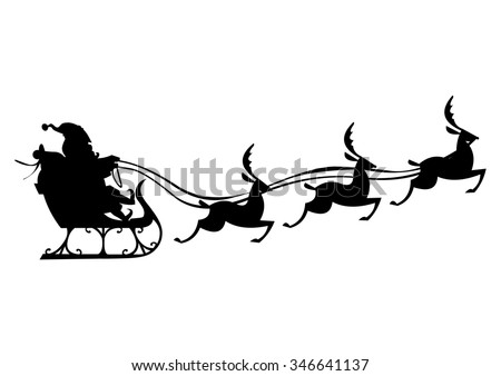 santa claus silhouette with