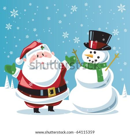 Santa Claus & snowman