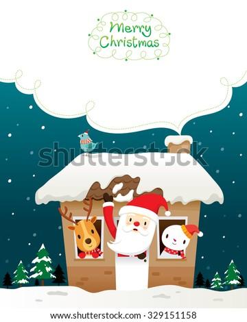 santa claus  snowman and