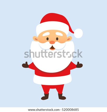 santa claus stand and smile