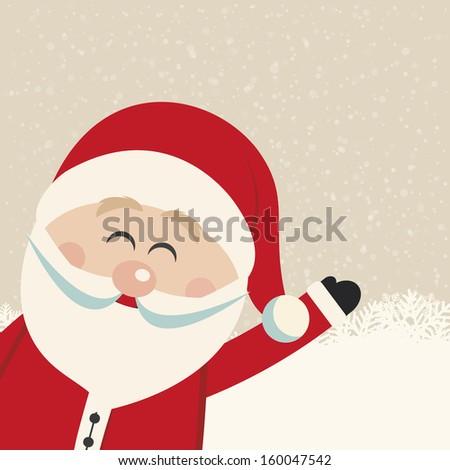 santa claus wave snowy