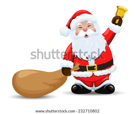 santa claus with a bag and