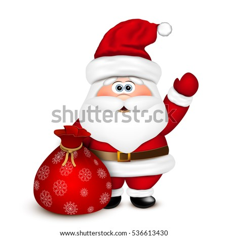 santa claus with a bag vector