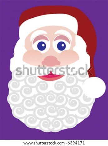 Santa Claus with a swirly beard