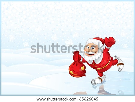 Santa Claus with sack - detailed vector illustration