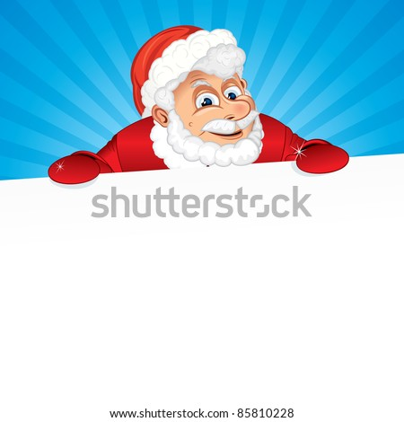 Santa Claus with White Sign