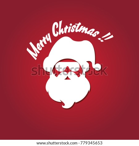 8d074c2a22c santa clause vector hat beard and glasses