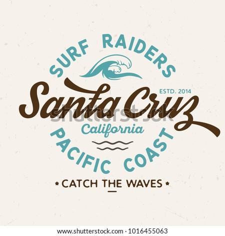 Santa Cruz Surf Raiders - Tee Design For Print