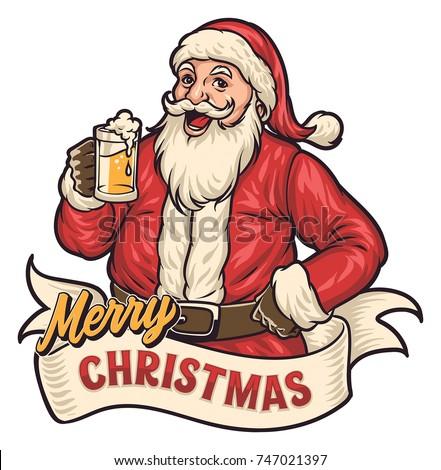 Santa Drink Beer