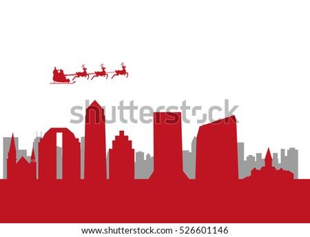 santa flying city of