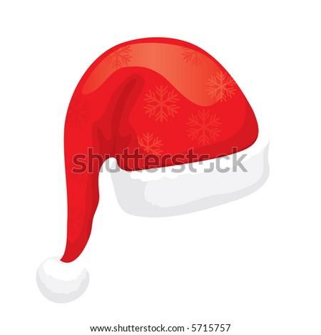 Santa Hat (editable vector). In the gallery also available XXL jpeg image made from this vector