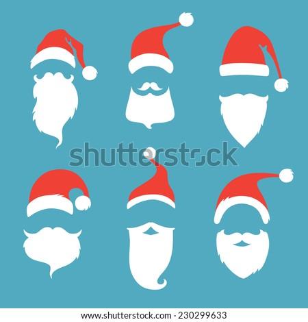 santa hats  moustache and