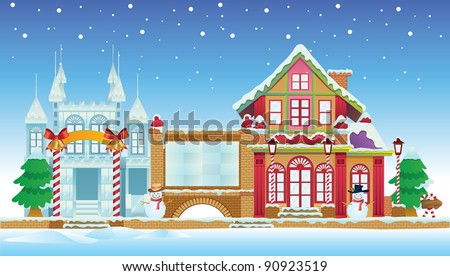 Santa House and Ice Castle