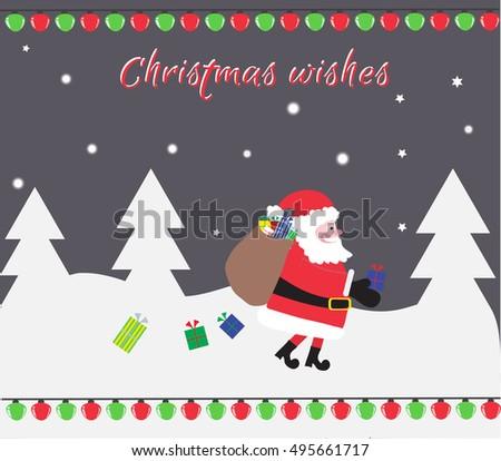 santa loses gifts from bag