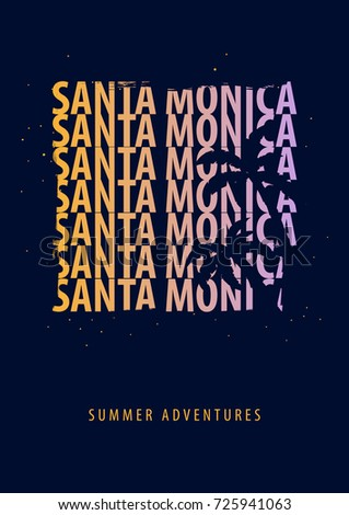 santa monica summer graphic