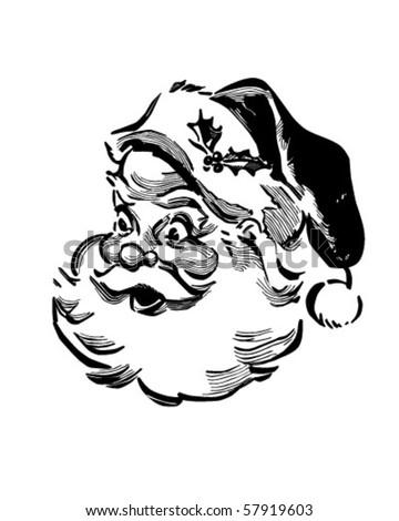 Santa - Retro Clip Art