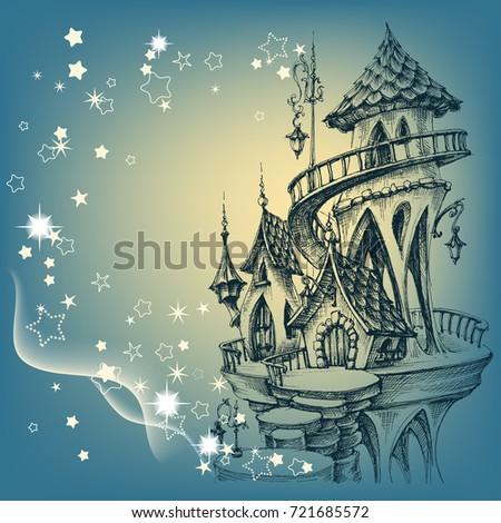 santa's castle christmas card