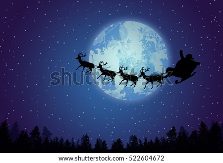 santa's sleigh in front of full