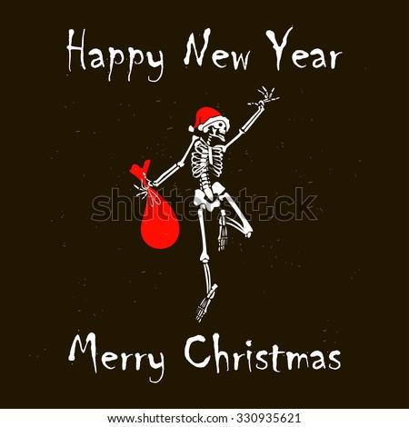 santa skull merry christmas