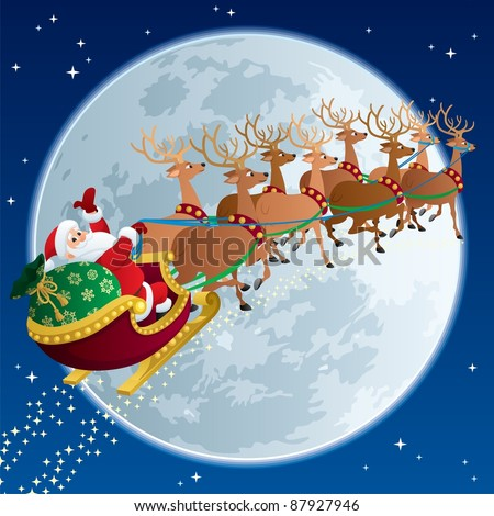 santa sleigh 2  santa claus