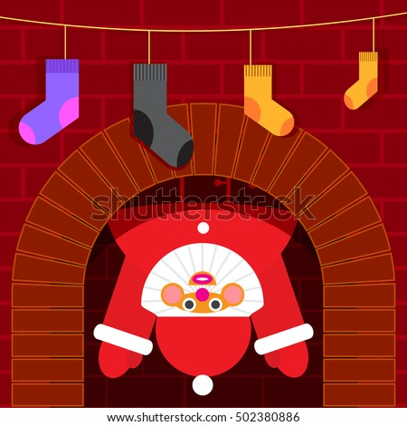 santa stuck in the chimney