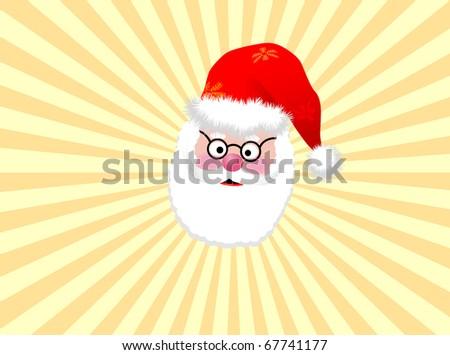 Santa vector background
